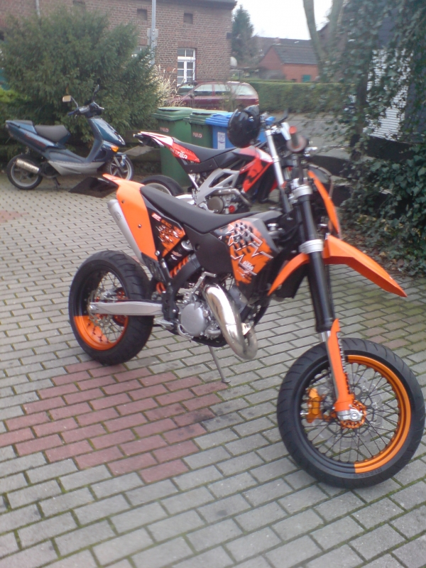 ktm exc 125 supermoto umbau 6 125er motorrad. Black Bedroom Furniture Sets. Home Design Ideas