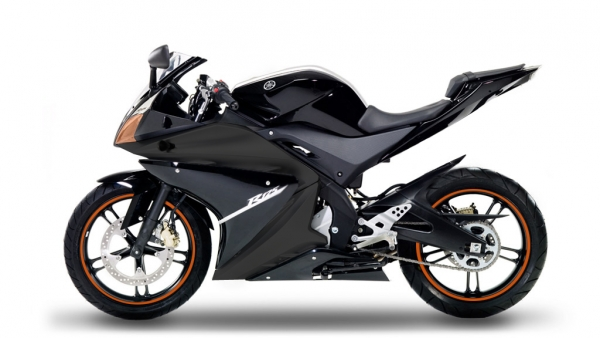 yamaha yzf r125 black orange 125er motorrad bilder galerie. Black Bedroom Furniture Sets. Home Design Ideas