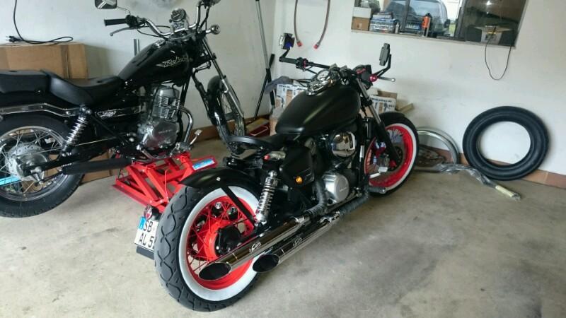 honda shadow 125 bobber umbau 125er motorrad. Black Bedroom Furniture Sets. Home Design Ideas